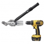 TurboShear drill attachment for shingles