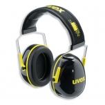 Apsauginės ausinės Uvex K2. SNR: 32dB, juodos/geltonos.