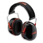 Apsauginės ausinės Uvex K3. SNR: 33dB, juodos/raudonos