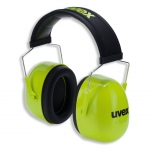 Earmuffs Uvex K4 SNR: 35dB, Yellow Hi-Viz Soft head band
