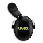 Apsauginės ausinės tvirtinamos ant šalmo su Uvex Pheos skydelio sistema K2H Magnet juodos/geltonos