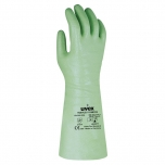 Chemical resistant glove Uvex Rubiflex S NB 35, Cotton interlock, coated with NBR. 35cm long, 0,5mm thick. Size 9. Type A, JKNOPT
