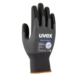 Safety gloves Phynomic Allround,  polyamide/elastane with Aqua plymer coating for dry and slightly damp areas, grey, size 8