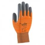 Safety gloves Uvex Phynomic X-Foam, orange, size 9