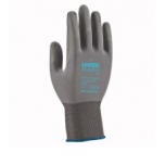 Safety gloves Uvex Phynomic XS, grey, size 09