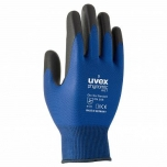 Safety gloves Uvex Phynomic WET, Polyamide/elastane with Aqua polymer coating for wet areas, blue. Size 7