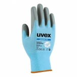 Safety gloves Uvex Phynomic C3, cut level 3, blue, size  8