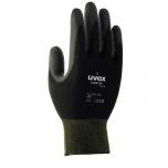 Safety gloves Uvex Unipur 6639 PU, black, size 6