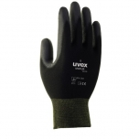 Safety gloves Uvex Unipur 6639 PU, black, size 8