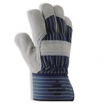 Safety gloves Uvex Topgrade 8300, cowsplit leather, fabric cuff size 9