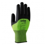 Safety gloves Uvex C500 Wet plus, cut level 5, green, size 10