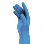 Disposable nitrile gloves Uvex U-fit, blue, 100pcs box, thickness 0,1mm, powder free, size L