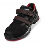UVEX darba sandales 1 85362 S1P SRC, mikro velūrs, kompozīta pirksgalu kausiņš, perforētas, prettriecina, bezmetāla zole, ļoti vieglas un elpojošas, izmērs 43