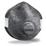 Face mask Uvex Silv-Air Pro 7210 FFP2, sturdy, preformed with valve, grey