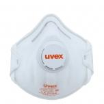Respiraator Uvex silv-Air classic 2210 FFP 2, eelvormitud klapiga, valge, 1tk pakendamata. 15 tk pakk