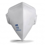 Face mask silv-Air classic 3110 FFP 1, folding mask with valve, white, 3 pcs retail pack