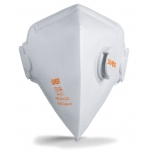 Face mask silv-Air classic 3210 FFP 2, folding mask with valve, white, 3 pcs retail pack