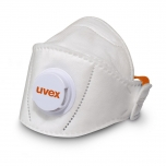 Face mask Uvex silv-Air Premium 5210+ FFP2, foldable with valve, for larger faces