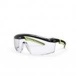 Safety glasses Uvex Astrospec 2.0, clear panorama lens, supravision excellence (anfi scratch, anti fog) coating,  black/lime