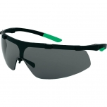 Safety glasses Uvex for welding Superfit, dark lens, shade 3, infradur AF coating,  black/green