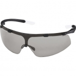 Safety glasses Uvex Super fit, grey lens, supravision excellence (anfi scratch, anti fog) coating,  black/transparent
