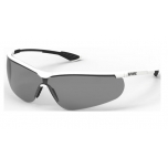 Safety glasses Uvex Uvex Sportstyle, dark lense, supravision extreme (anti scratch, anti fog) coating, white/black.