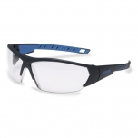 Safety glasses Uvex i-works, clear lens, supravision excellence (anfi scratch, anti fog) coating,  antratzit/blue, RT package