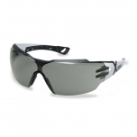 Safety glasses Uvex Pheos CX2, grey lens, supravision excellence (anfi scratch, anti fog) coating, black/light blue. RT package