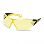 Safety glasses Uvex Pheos CX2, yellow lens, supravision excellence (anfi scratch, anti fog) coating,  black/yellow. RT package