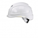 Safety helmet Pheos B-S-WR, White, variable front/back ventilation, 55-61 cm. Textile harnes of 6 straps, short brim