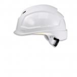 Safety helmet Pheos B-S-WR, White, variable front/back ventilation, 55-61 cm. Textile harnes of 6 straps, short brim