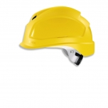 Safety helmet Pheos B-S-WR, Yellow, variable front/back ventilation, 55-61 cm. Textile harnes of 6 straps, short brim