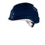 Safety helmet Pheos B-S-WR, Blue, variable front/back ventilation, 55-61 cm. Textile harnes of 6 straps, short brim