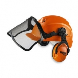 Safety helmet forestry set Pheos Forest. Helmet + earmuffs dBex 3000H + metal mesh visor