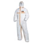 Vienkartinis apsauginis kombinezonas, antistatinis Climazone Type 4B 9878 Baltas-oranžinis, L dydis