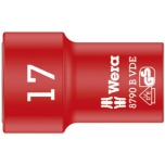 "Wera VDE Zyklop 3/8"" drive socket 17.0 x 46.0 mm"