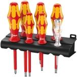 Wera Kraftform Plus 160i/7 VDE 7-piece s/driver set + Rack & tester, LaserTip