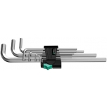 Wera L-key set, metric, chrome-plated 950 L/9 SM N
