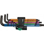 Wera L-keys 950/9 Hex-Plus Multicolour holding funtction 1, BlackLaser