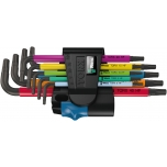 Wera Multicolour L-key set with holding function, BlackLaser TORX HF