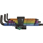 Wera HEX L-key set, multicolour, long arms, metric