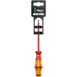 VDE Insulated screwdriver for slotted screws160i 0,6 x 3,5 x 100 mm Hang-Tag