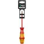 VDE Insulated screwdriver for slotted screws160i 0,8 x 4,0 x 100 mm Hang-Tag